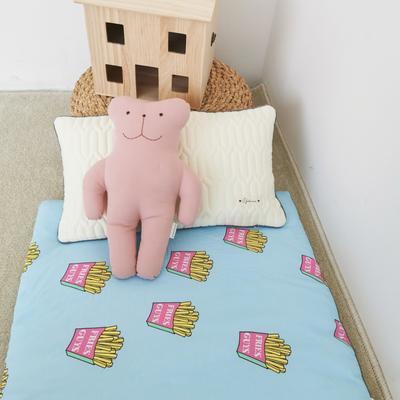 2019新款-印花幼儿便携式床垫套装 夹棉床垫60*120cm 薯条君