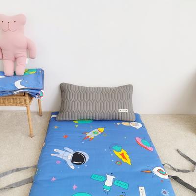 2019新款-印花幼儿便携式床垫套装 夹棉床垫60*120cm 太空超人