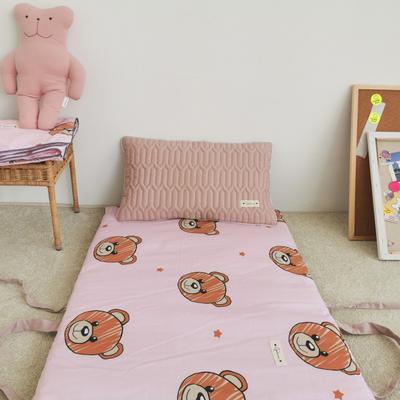 2019新款-印花幼儿便携式床垫套装 夹棉床垫60*120cm 星星熊