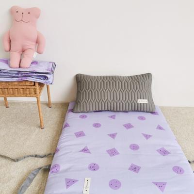 2019新款-印花幼儿便携式床垫套装 夹棉床垫60*120cm 紫可爱