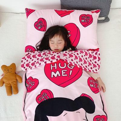 2019新款-宝宝绒加舒棉绒睡袋80*100㎝ 爱心甜甜