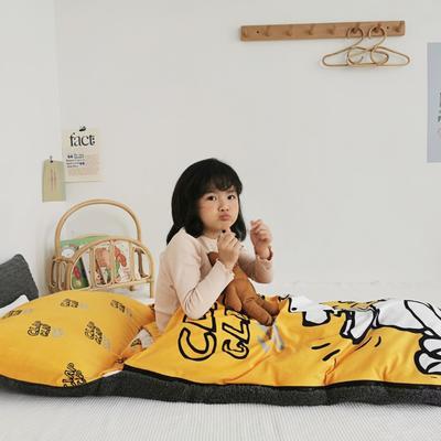 2019新款-宝宝绒加舒棉绒睡袋80*100㎝ 黄维维