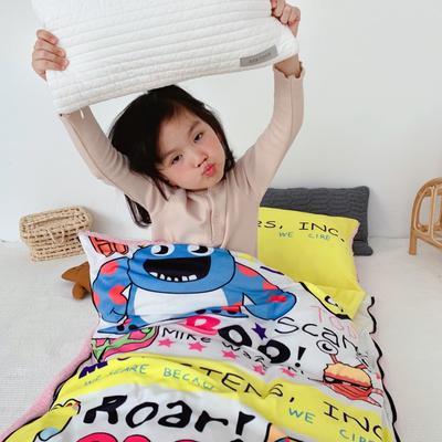 2019新款-宝宝绒加舒棉绒睡袋80*100㎝ 柠檬怪物