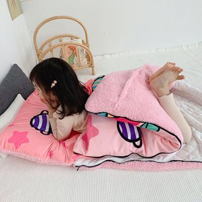 2019新款-宝宝绒加舒棉绒睡袋80*100㎝ 糖果猪猪