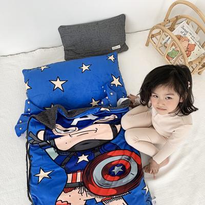 2019新款-宝宝绒加舒棉绒睡袋80*100㎝ 星星超人