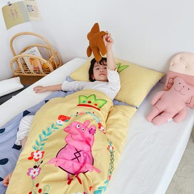 2019新款-棉加绒睡袋70*145 爱穿裙子的猪