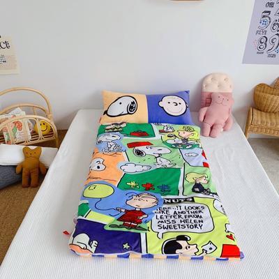 2019新款-棉加绒睡袋70*145 格子狗狗
