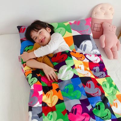 2019新款-棉加绒睡袋70*145 格子鼠