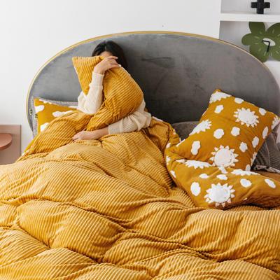 2019新款-舒棉绒提花四件套 S床单款三件套1.2m(4英尺)床 太阳公公