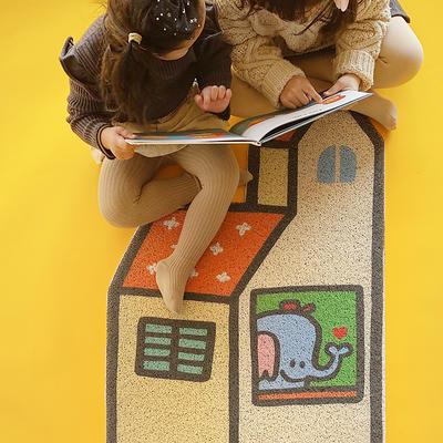 丝圈异形小可爱可裁剪门垫地垫 60*90cm 大象的房子