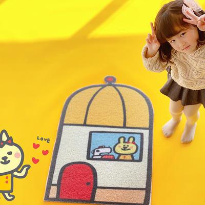 丝圈异形小可爱可裁剪门垫地垫 60*90cm 小白兔的房子
