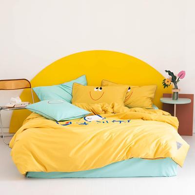 2020新款60s长绒棉卡通四件套 1.2m(4英尺)床 可爱 黄