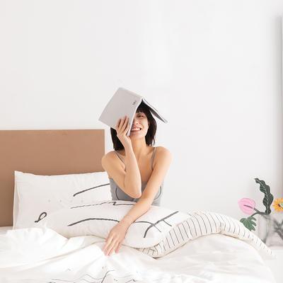 2020新款-北欧风之宅家系列四件套 床单款四件套1.8m(6英尺)床 开心 白