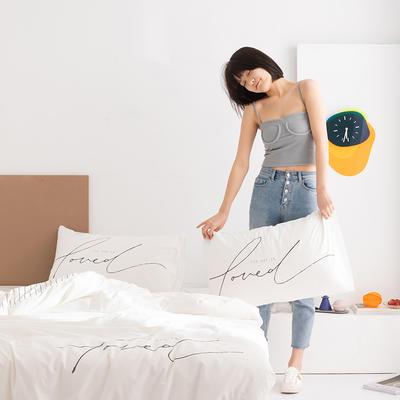 2020新款-北欧风之宅家系列四件套 床单款四件套1.8m(6英尺)床 小美好 白