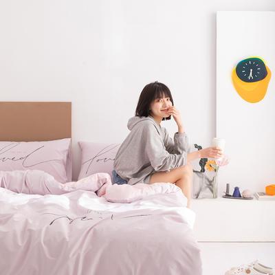 2020新款-北欧风之宅家系列四件套 床单款四件套1.8m(6英尺)床 小美好 紫