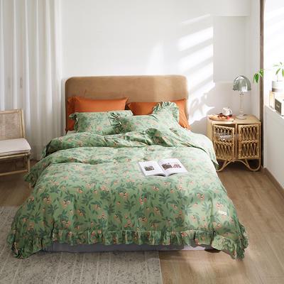 2020新款-双层纱洛丽塔四件套 1.8m床单款四件套 草莓花