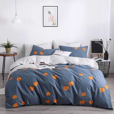 2019新款-13372纯棉四件套 1.8m(6英尺)床 可爱橙