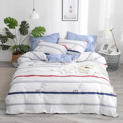 2019新款-13372纯棉四件套 三件套1.2m(4英尺)床 时装秀