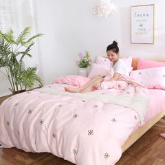 2018棉加绒四件套 1.2m床(床单款) 花瓣
