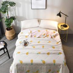 全棉棉花夏被 里外全棉 新疆长绒棉填充 180x200cm 菠萝蜜-黄