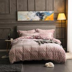 2018新款5D雕花绒四件套-总 1.8m(6英尺)床 欧美风情-紫色