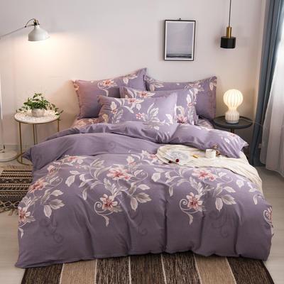 2020新品全棉磨毛四件套 1.5m床单款 芸梦(紫)