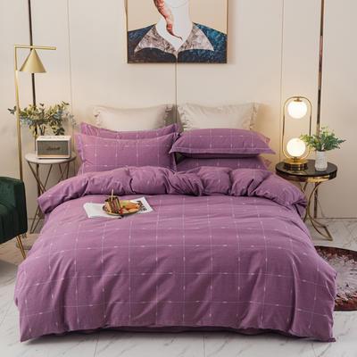 2020新品全棉磨毛四件套 1.8m床单款 乐享生活-紫