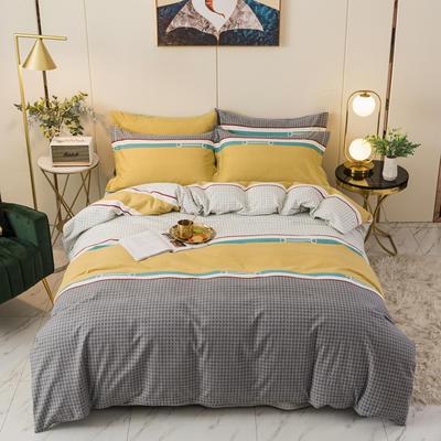 2020新品全棉磨毛四件套 1.8m床单款 威尼斯-黄