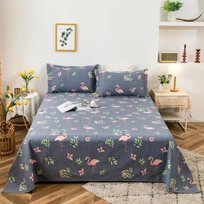 2021新品老粗布床单三件套 200x235cm单床单 火烈风情