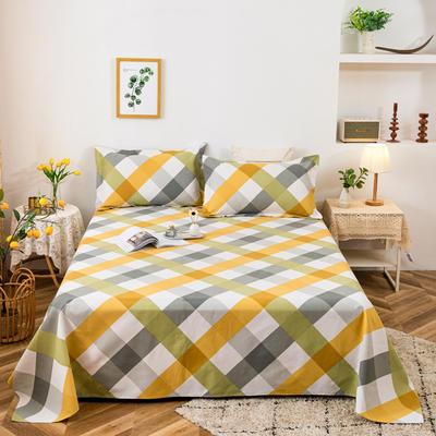 2021新品老粗布床单三件套 200x235cm单床单 简单生活