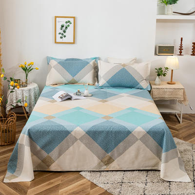 2021新品老粗布床单三件套 200x235cm单床单 梦境格