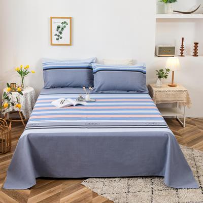 2021新品老粗布床单三件套 200x235cm单床单 微语录