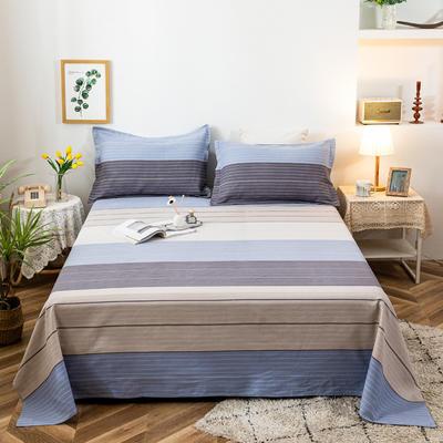 2021新品老粗布床单三件套 200x235cm单床单 维亚