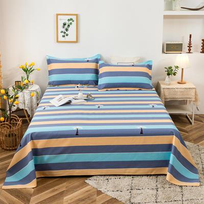 2021新品老粗布床单三件套 200x235cm单床单 椰岛世界
