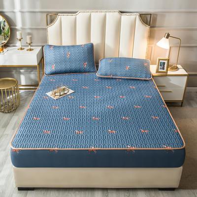 2021新款凉感丝乳胶软席床笠款三件套 1.5m床笠款三件套 爱马仕-灰