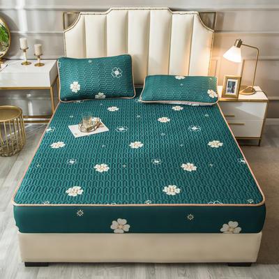 2021新款凉感丝乳胶软席床笠款三件套 1.5m床笠款三件套 花季