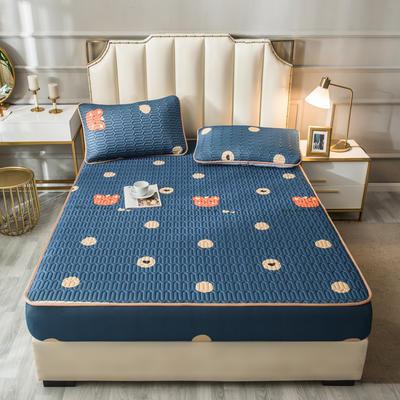 2021新款凉感丝乳胶软席床笠款三件套 1.5m床笠款三件套 萌萌熊