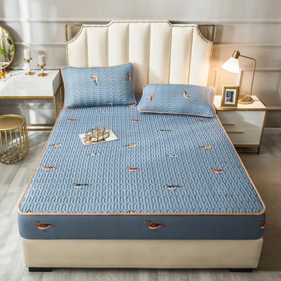 2021新款凉感丝乳胶软席床笠款三件套 1.5m床笠款三件套 鸟语