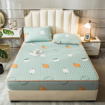 2021新款凉感丝乳胶软席床笠款三件套 1.5m床笠款三件套 柠檬-绿