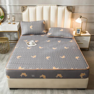 2021新款凉感丝乳胶软席床笠款三件套 1.5m床笠款三件套 千纸鹤