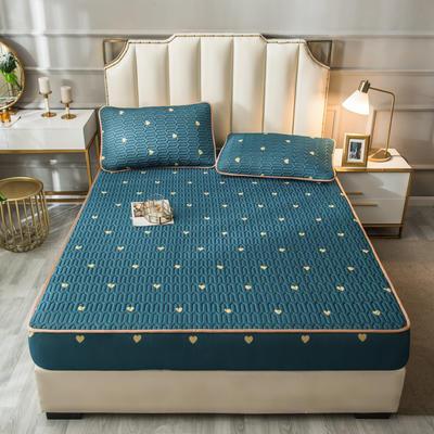 2021新款凉感丝乳胶软席床笠款三件套 1.5m床笠款三件套 心相印-兰
