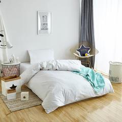 欣喜来家纺 全棉斜纹纯色三件套 1.2m(4英尺)床 白色