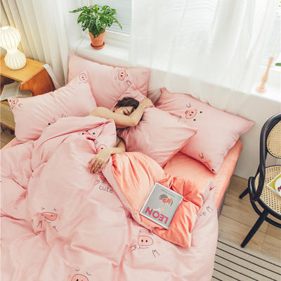 2019新款-棉加绒系列套件 1.2m-1.35m床(床单款三件套) 安妮