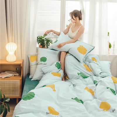 2019新款-棉加绒系列套件 1.2m-1.35m床(床单款三件套) 花贝