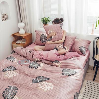 2019新款-棉加绒系列套件 1.2m-1.35m床(床单款三件套) 花开宿语