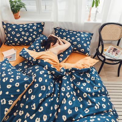 2019新款-棉加绒系列套件 1.2m-1.35m床(床单款三件套) 蓝色爱恋