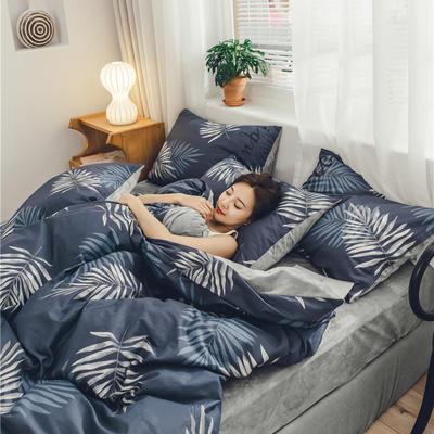2019新款-棉加绒系列套件 1.2m-1.35m床(床单款三件套) 落花时节
