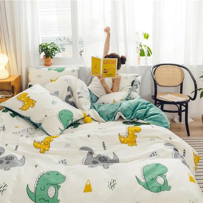 2019新款-棉加绒系列套件 1.2m-1.35m床(床单款三件套) 萌恐星人