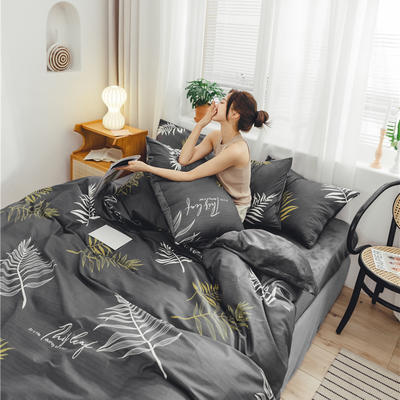 2019新款-棉加绒系列套件 1.2m-1.35m床(床单款三件套) 沐雪