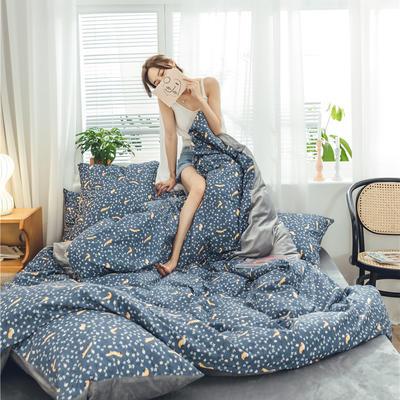 2019新款-棉加绒系列套件 1.2m-1.35m床(床单款三件套) 暖暖